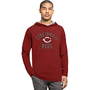 '47 Men's Cincinnati Reds Red Downfield Long Sleeve Shirt