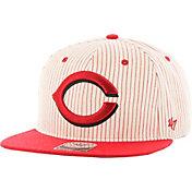 '47 Men's Cincinnati Reds Woodside Captain Pinstripe Adjustable Hat