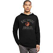 '47 Men's Baltimore Orioles Black Downfield Long Sleeve Shirt