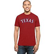 '47 Men's Texas Rangers MVP Splitter Red T-Shirt