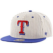 '47 Men's Texas Rangers Woodside Captain Pinstripe Adjustable Hat