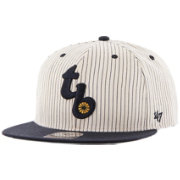 '47 Men's Tampa Bay Rays Woodside Captain Pinstripe Adjustable Hat