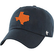 '47 Men's Houston Astros Navy State Logo Clean Up Adjustable Hat
