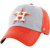 '47 Men's Houston Astros McGraw Clean Up Grey/Orange Adjustable Hat