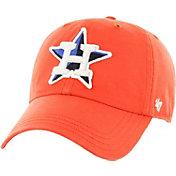 '47 Men's Houston Astros Woodall Clean Up Orange Adjustable Hat