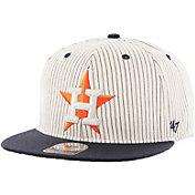 '47 Men's Houston Astros Woodside Captain Pinstripe Adjustable Hat