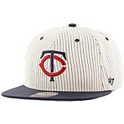 '47 Men's Minnesota Twins Woodside Captain Pinstripe Adjustable Hat