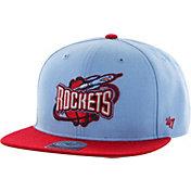 '47 Men's Houston Rockets No Shot Light Blue Adjustable Snapback Hat
