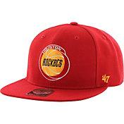 '47 Men's Houston Rockets Sure Shot Red Adjustable Snapback Hat
