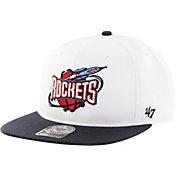'47 Men's Houston Rockets Sure Shot White 2-Tone Adjustable Snapback Hat