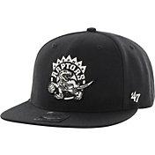 '47 Men's Toronto Raptors Sure Shot Black Adjustable Snapback Hat