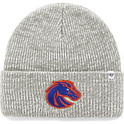 '47 Men's Boise State Broncos Heathered Grey Brain Freeze Cuffed Knit