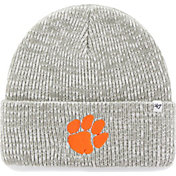 '47 Men's Clemson Tigers Heathered Grey Brain Freeze Cuffed Knit