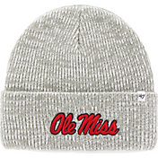 '47 Men's Ole Miss Rebels Heathered Grey Brain Freeze Cuffed Knit