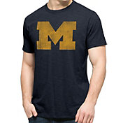 '47 Men's Michigan Wolverines Blue Big 'M' Scrum T-Shirt