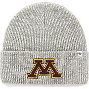 '47 Men's Minnesota Golden Gophers Heathered Grey Brain Freeze Cuffed Knit