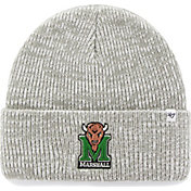 '47 Men's Marshall Thundering Herd Heathered Grey Brain Freeze Cuffed Knit