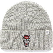 '47 Men's NC State Wolfpack Heathered Grey Brain Freeze Cuffed Knit