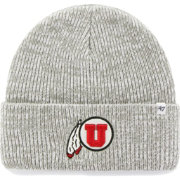 '47 Men's Utah Utes Heathered Grey Brain Freeze Cuffed Knit