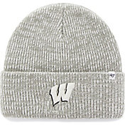 '47 Men's Wisconsin Badgers Heathered Grey Brain Freeze Cuffed Knit