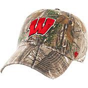 '47 Men's Wisconsin Badgers Camo Clean Up Adjustable Hat