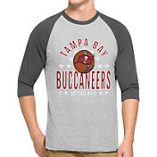 '47 Men's Tampa Bay Buccaneers Lockdown Raglan Grey Shirt