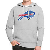 '47 Men's Buffalo Bills MVP Headline Pullover Grey Hoodie