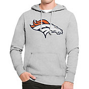 '47 Men's Denver Broncos MVP Headline Pullover Grey Hoodie