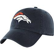 '47 Men's Denver Broncos Navy Clean Up Adjustable Hat