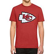 '47 Men's Kansas City Chiefs Knockout Fieldhouse Applique T-Shirt