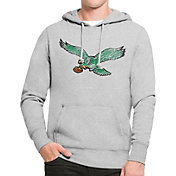 '47 Men's Philadelphia Eagles MVP Headline Pullover Grey Hoodie