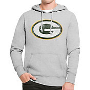 '47 Men's Green Bay Packers MVP Headline Pullover Grey Hoodie