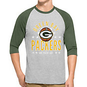'47 Men's Green Bay Packers Lockdown Raglan Grey Shirt