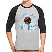 '47 Men's Carolina Panthers Lockdown Raglan Grey Shirt