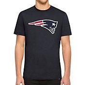 '47 Men's New England Patriots Knockout Fieldhouse Applique T-Shirt