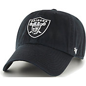 '47 Men's Oakland Raiders Black Clean Up Adjustable Hat