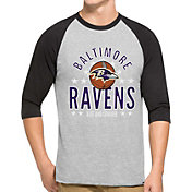 '47 Men's Baltimore Ravens Lockdown Raglan Grey Shirt