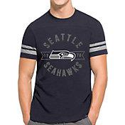 '47 Men's Seattle Seahawks Downfield Navy T-Shirt