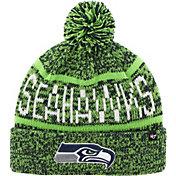 '47 Men's Seattle Seahawks Northmont Navy Pom Knit Hat