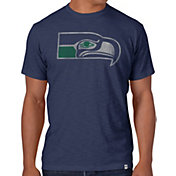 '47 Men's Seattle Seahawks Throwback Scrum Logo Navy T-Shirt