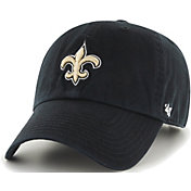 '47 Men's New Orleans Saints Black Clean Up Adjustable Hat