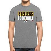 '47 Men's Pittsburgh Steelers Club Grey T-Shirt