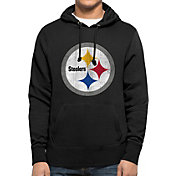 '47 Men's Pittsburgh Steelers MVP Headline Pullover Black Hoodie