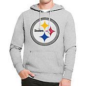 '47 Men's Pittsburgh Steelers MVP Headline Pullover Grey Hoodie