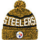 '47 Men's Pittsburgh Steelers Northmont Black Pom Knit Hat