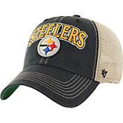 '47 Men's Pittsburgh Steelers Vintage Tuscaloosa Black Adjustable Hat