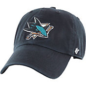 '47 Men's San Jose Sharks Clean Up Black Adjustable Hat