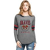 '47 Women's Atlanta Braves Grey Courtside Long Sleeve Shirt