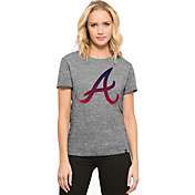'47 Women's Atlanta Braves Super Hero Grey Scoop Neck T-Shirt
