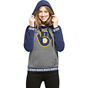 '47 Women's Milwaukee Brewers Grey Encore Pullover Hoodie